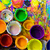 drawingboard: (✎ pots of paint.)