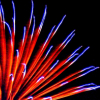 afuna: closeup of red and blue fireworks (fireworks)