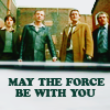 """snowpolice: The cast of Life on Mars with the caption """"May the Force be with you."""" (may the pun be with you)"""