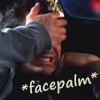 """loki_of_sassgaard: Harry Lockhart covering his eyes in frustration with """"*Facepalm*"""" written over top. (This is exhausting)"""