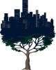 urbandryad: image of a city growing out of the branches of a tree (pic#5142045)