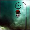 auburn: Streetlamp against turquoise sky (Lamp)