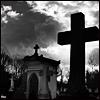 auburn: Black and white cemetary cross silhouette (Cemetary Cross)