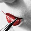 auburn: Close up geisha painting lips crimson (Geisha)