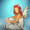ext_12512: Saiyuki's Sha Gojyo, angels with dirty faces (chibi angel kappa)