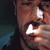 tehomet: (John Winchester doing spellwork)