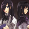 kylemon: Hanako Ikezawa reading, Homura Akemi off to the side (found it somewhere)