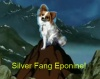 seventhbard: The world's most adorable dog on a cartoon mountain. Text: Silver Fang Eponine (Silver Fang Eponine)