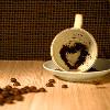 auburn: (Coffee Heart Cup & Saucer)