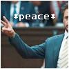 highlander_ii: Tony giving peace sign w/ text *peace* ([Iron Man] *peace*)