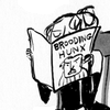 sixtylilies: a person reading a magazine entitled brooding hunx and giving no fucks. (oh like you wouldn't read it)