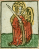 jcconrad: St. Catherine, patron saint of scholars. (saint catherine scholar wheel sword)