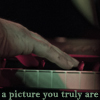 "heuradys: close of Dave from Bell X1's fingers on piano keys with text ""a picture you truly are"" (offshore)"