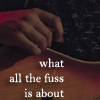 "heuradys: closeup of Paul from Bell X1's hand on the curve of his guitar with text ""what all the fuss is about"" (all the fuss)"