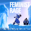 labellementeuse: a picture of Katara yelling at Sokka with the text 'Feminist Rage' (atla katara's feminist rage)