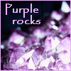 "cesy: Amethyst with the text ""Purple rocks"" (Amethyst)"