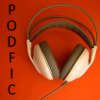 resonance_and_d: headphones and the word podfic (podfic by me)