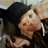 the_wanlorn: Murdock in a orange checkered cape and mask listening to a safe. (A-Team: Murdock Superhero Safecracker)