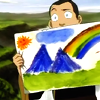 grlnamedlucifer: Avatar the Last Airbender's Sokka shows off his awesome painting skills ([atla] you added a rainbow)