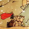 terabient: Thor on a chariot in the snow (Marvel: Thor Chariot)