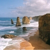the_shoshanna: beautiful rock stacks on the Australian coastline (twelve apostles)