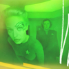 cleo: Seven of Nine with Janeway behind her. (ST: VOY Seven)
