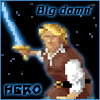 at_sign: The hero from the Quest for Glory series of computer games. (hero)
