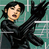 labellementeuse: An icon of Cass Cain standing with a hand raised, perhaps putting on a glove (comics cass)