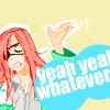 "bombay: Badou says ""Yeah, yeah, whatever."" (whatever [Badou])"