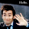 janice_lester: Picture of the tenth Doctor waving hello (Ten: hello!)