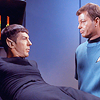 janice_lester: Spock in bio-bed Bones looks on (Spock in bio-bed Bones looks on)