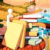 nundinae: piles of books *__* (reading)