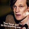 pensnest: Eleventh Doctor, weary, caption you have got to be kidding me (Dr Who kidding me)