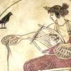 xochiquetzl: A woman pours a drink offering (classical Greek image) (Libation)