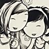 the_shoshanna: cartoon girls giggling together (giggle together)