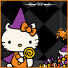 ambersweet: Hello Kitty dressed up like a witch (Witch Kitty)