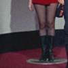 theoreticalpixy: Star Trek - Women's boots on a transporter pad (boots)