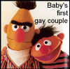 """the_shoshanna: Bert and Ernice, with text """"Baby's first gay couple"""" (baby's first gay couple)"""