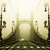 ahorbinski: a bridge in the fog (bridge to anywhere)