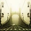 ahorbinski: a bridge in the fog (bridge to anywhere)