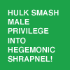 ahorbinski: hulk smash male privilege! (hulk smash male privilege)