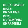 ahorbinski: hulk smash male privilege! (hulk smash male privilege)