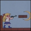sporky_rat: Sailor V in her own game from the Sailor Moon anime (sailor v game)