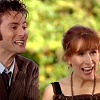 rusty_halo: doctor and donna excited laughing (dw: doctor/donna: laughing)
