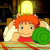 omens: Ponyo with a lamp on her head (Ponyo - lamp)