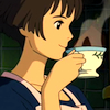 omens: Lisa drinking tea [from Ponyo] (Ponyo - Lisa/tea)