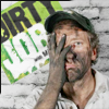 highlander_ii: Mike Rowe from Dirty Jobs covered in dirty with his hand covering half his face. ([MRowe] dirty dirty boy)