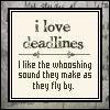 unsymbolic: (Deadlines)