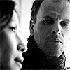 elementary_mydear: black and white; Sherlock staring at Joan (pic#5240833)