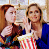 restless: Willow & Buffy from Buffy the Vampire Slayer (*waves*)